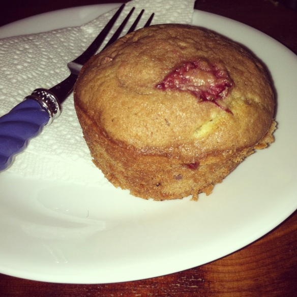 strawberry muffin alone